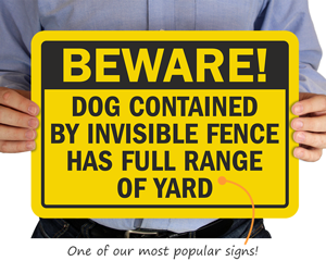 Popular Beware of Dog Signs