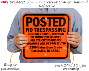 Custom Posted No Trespassing Signs