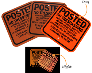 Posted Signs in Day and Night