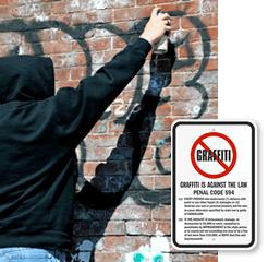 No Vandalism Signs