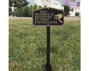 GardenBoss™ Video Surveillance Plaque