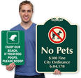 Custom Dog Poop Signs