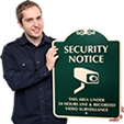 Elegant Surveillance Signs