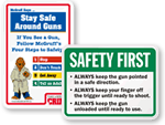 Gun Safety Signs