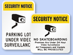 Security Notice Signs