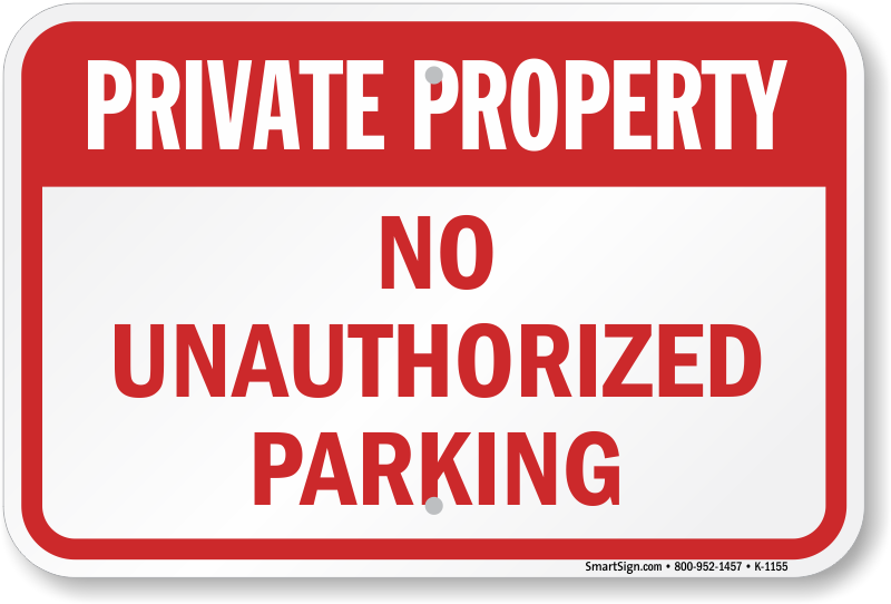 Tow Car Private Property