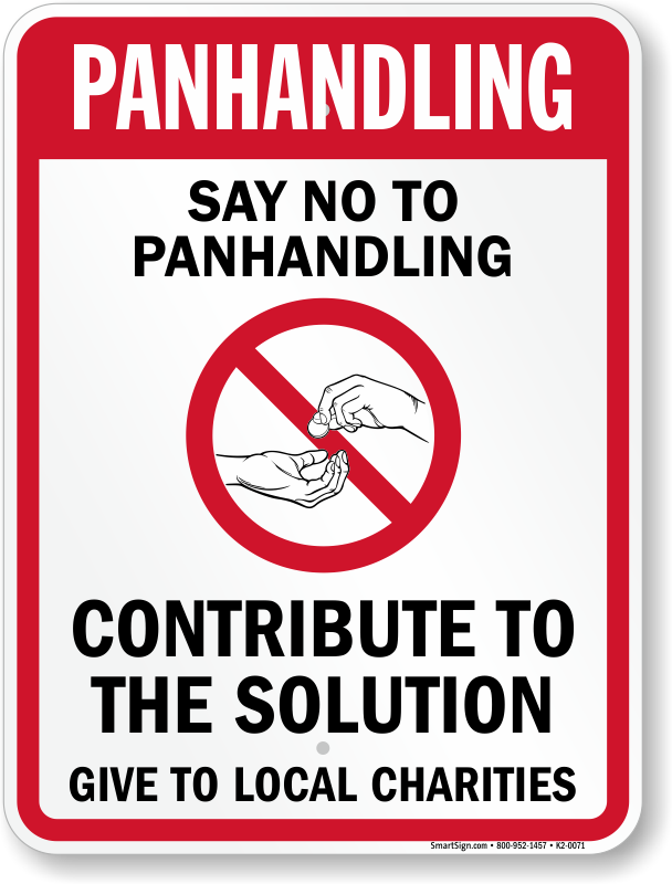 how to say no to panhandlers