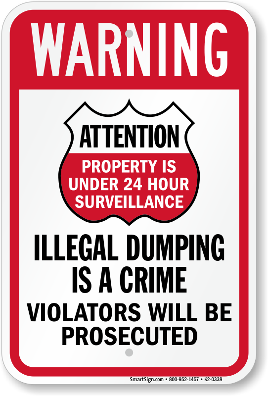 Violators Prosecuted For Dumping Warning Sign