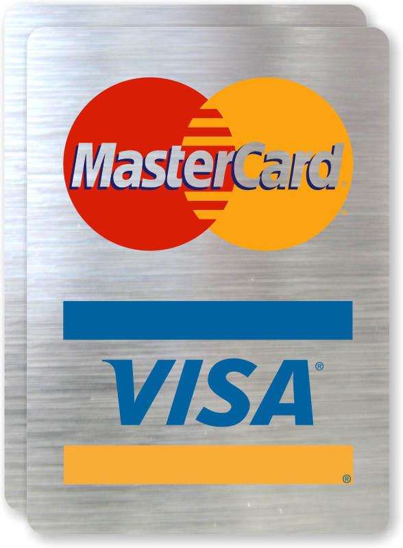 Credit Card Signs - Credit and Debit Cards Accepted