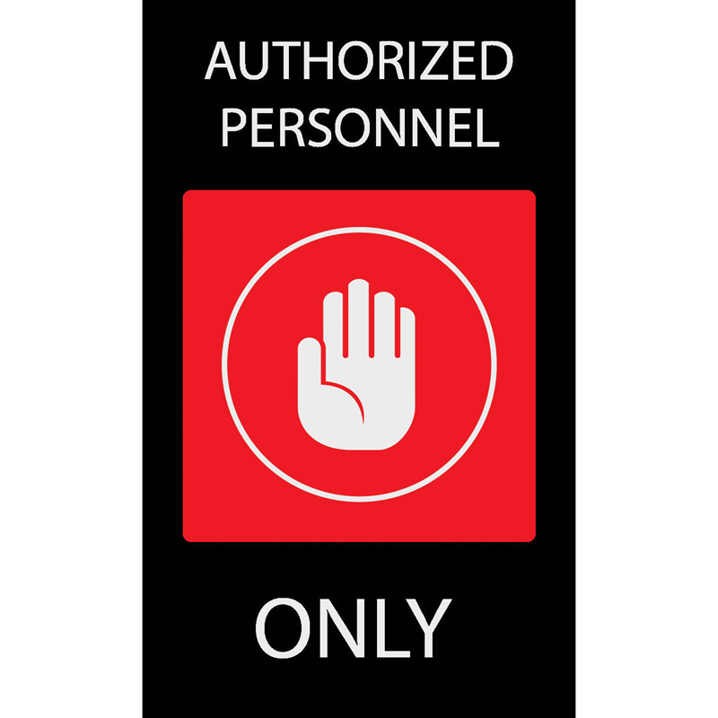 Authorized Personnel Only Signs Indoor Outdoor Security