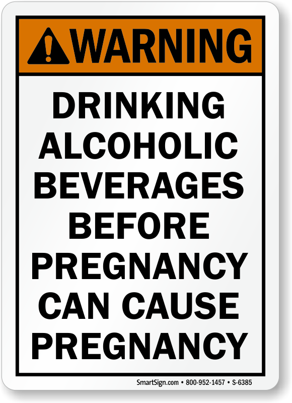 alcoholic beverages before pregnancy cause pregnancy sign
