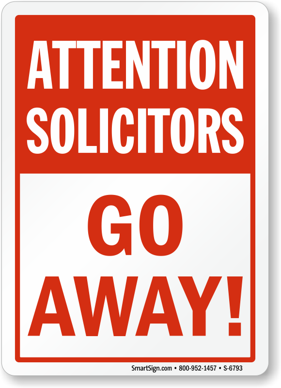 how to keep solicitors away