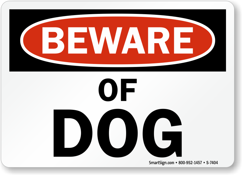 Free Guard Dog Warning Signs