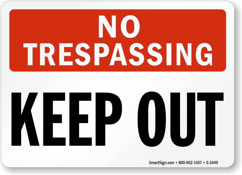 Luscious image inside printable no trespassing signs
