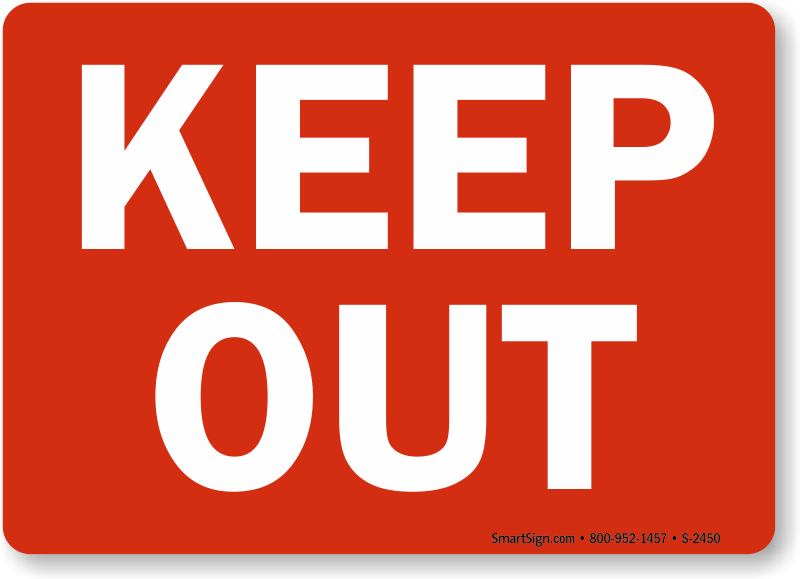 keep out signs free shipping options