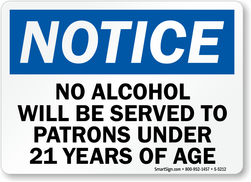 Legal drinking age