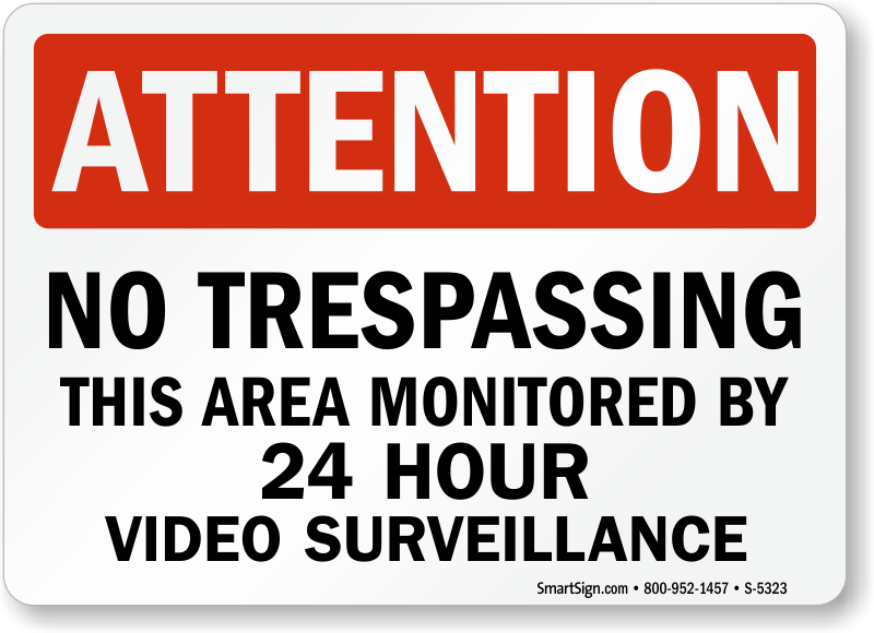 Area Under Surveillance Signs | Signs Ship Free