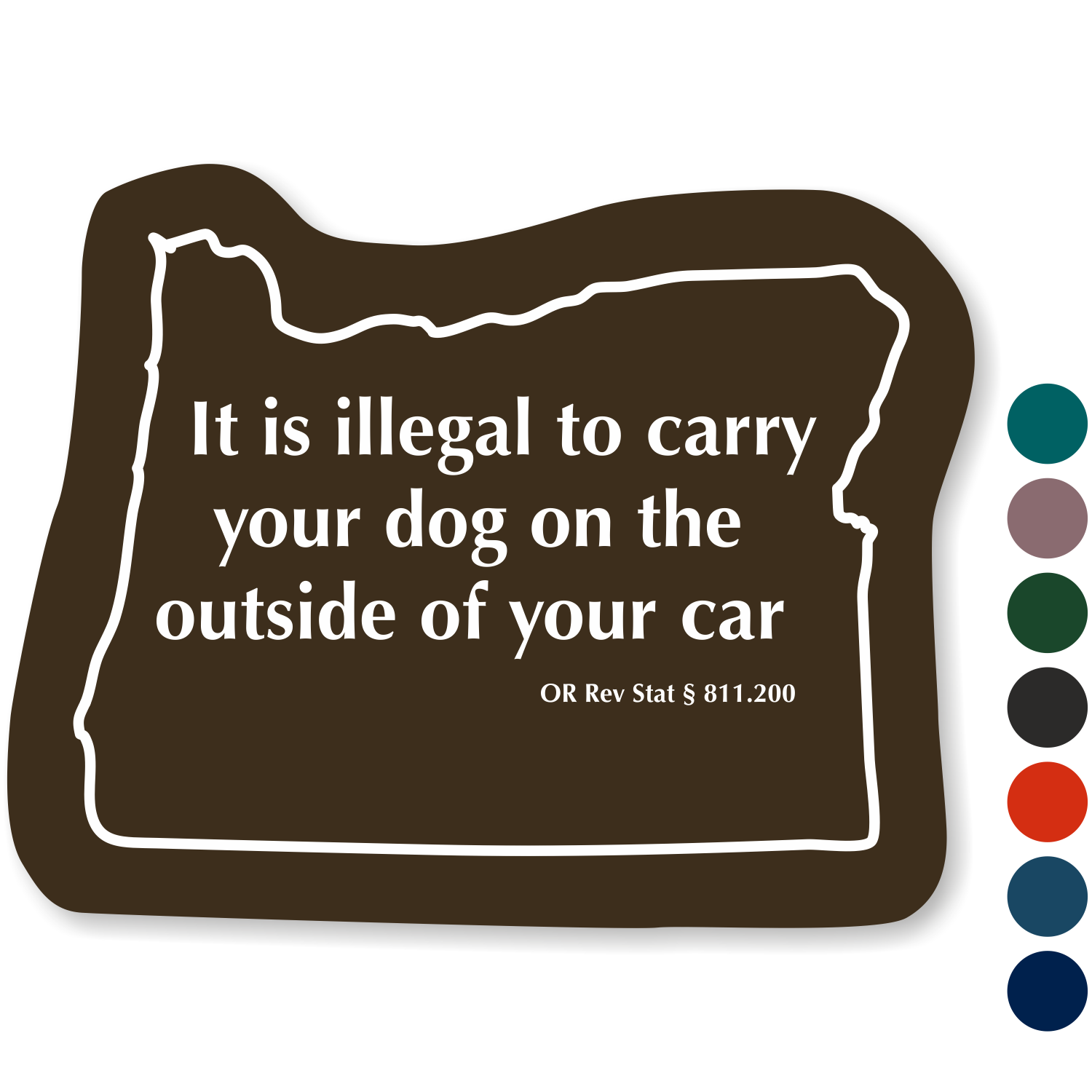 Oregon State Novelty Law Sign, TactileTouch