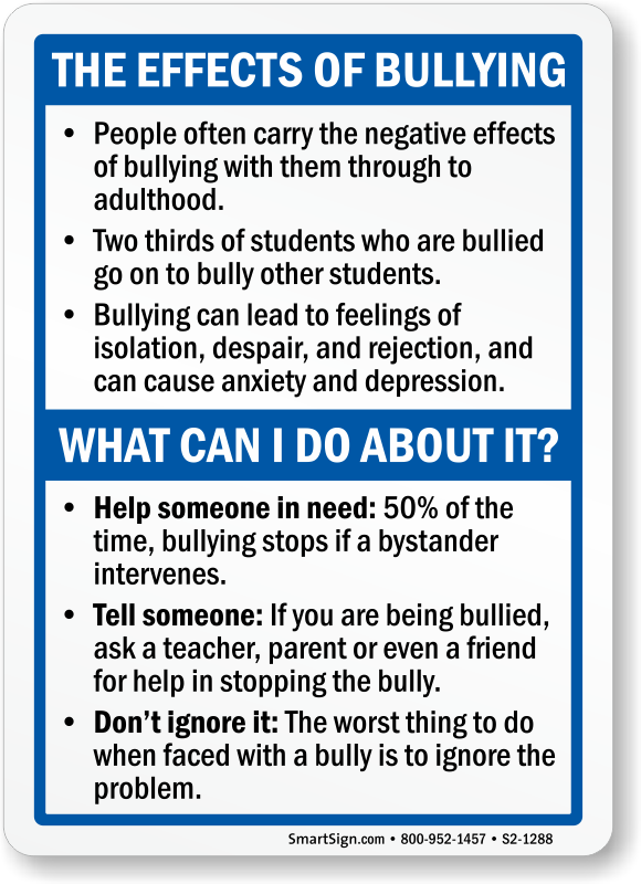 No Bullying and Bully-Free Signs | Wide collection online