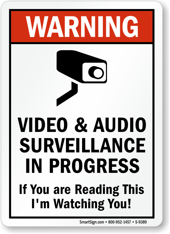 graphic regarding Video Surveillance Sign Printable named Printable Safety Digital camera Symptoms - 0425