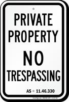 Alaska No Trespassing Sign