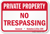 Connecticut Private Property Sign