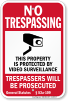Connecticut Trespassers Will Be Prosecuted Sign