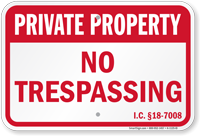 Idaho Private Property Sign