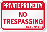 Massachusetts Private Property Sign
