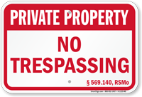 Missouri Private Property Sign