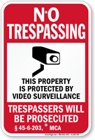 Montana Trespassers Will Be Prosecuted Sign