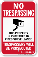 Rhode Island Trespassers Will Be Prosecuted Sign