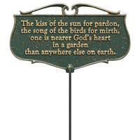 Nearer Gods Heart In a Garden Accent Sign