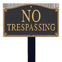 No Trespassing Statement Plaque