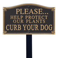 Help Protect Plants Statement Lawn Plaque