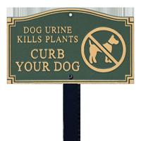 Dog Urine Kills Plants Statement Lawn Plaque