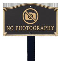 No Photography Statement Lawn Plaque