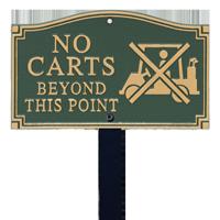 No Carts Statement Lawn Plaque