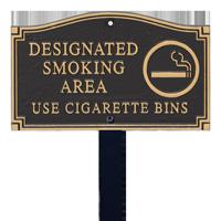 Designated Smoking Area Statement Lawn Plaque