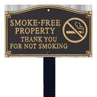 Smoke Free Property Statement Lawn Plaque