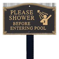 Shower Before Entering Statement Lawn Plaque