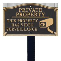 Private Property Statement Lawn Plaque