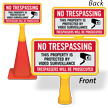 No Trespassing Video Surveillance ConeBoss Sign