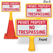 Private Property No Trespassing ConeBoss Sign