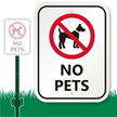 No Pets with Graphic Sign