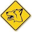 Fierce Dog Symbol Animal Crossing Sign
