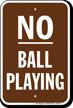 No Ball Playing No Loitering Sign