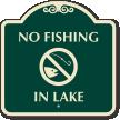 No Fishing In Lake Sign