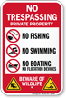 No Trespassing Beware Of Wildlife Sign