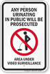 Persons Prosecuted For Urinating Sign